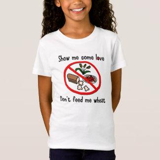 Camisa de la alergia del trigo