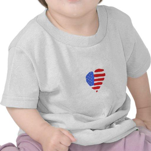 Camisa de la bandera americana del bebé