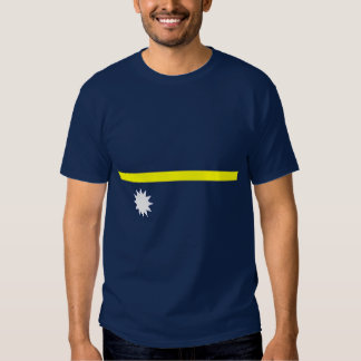 Camisa de la bandera de Nauru
