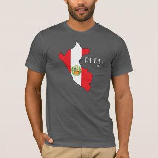 Camisa de la bandera del mapa de Perú
