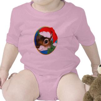 Camisa de la cara de la ardilla del navidad