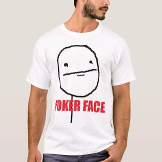Camisa de la cara de póker