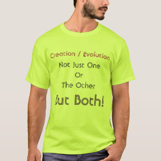 Camisa de la creación/de la evolución