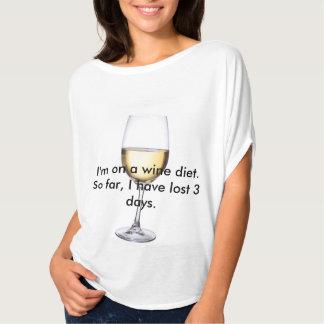 Camisa de la dieta del vino