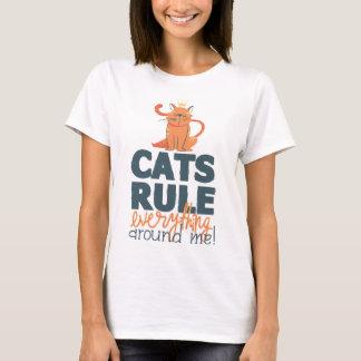 Camisa de la diversión de la regla de los gatos