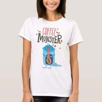 Camisa de la diversión del monstruo del café