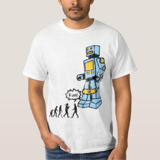 Camisa de la evolución del robot del vintage
