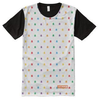 Camisa de la impresión de Meeple de dos pipas Camiseta Con Estampado Integral