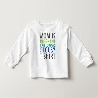 Camisa de la invitación del embarazo para los