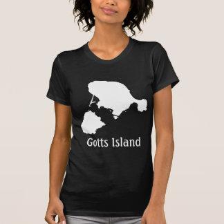 Camisa de la isla de Gotts - blanco y negro