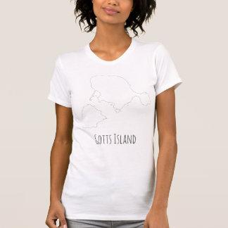 Camisa de la isla de Gotts - texto fino del