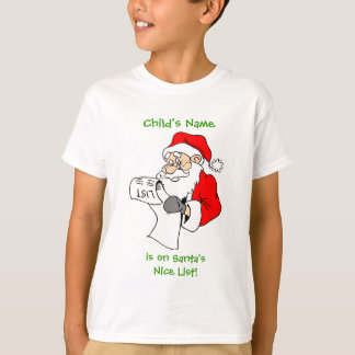 Camisa de la lista de Santa personalizado Niza
