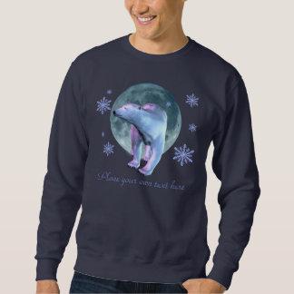 Camisa de la luna del oso polar sudadera