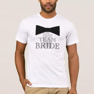 Camisa de la pajarita de la novia del equipo