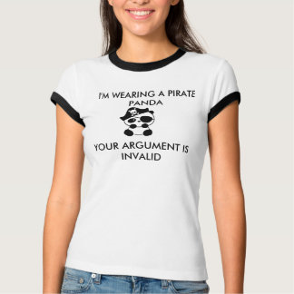 Camisa de la panda del pirata