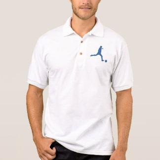 Camisa de la silueta del fútbol