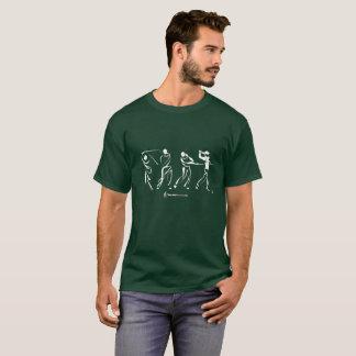 Camisa de la silueta del golfista