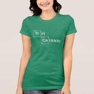 Camisa de la tabla periódica del cañón de la lata