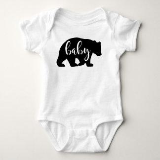 Camisa de la una pieza del oso del bebé