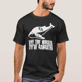 Camisa de las ballenas del gángster de las