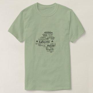 Camisa de las ciudades y de las calles de Luisiana