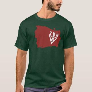 Camisa de las insignias del ejército del zombi