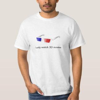 camisa de las películas 3D solamente