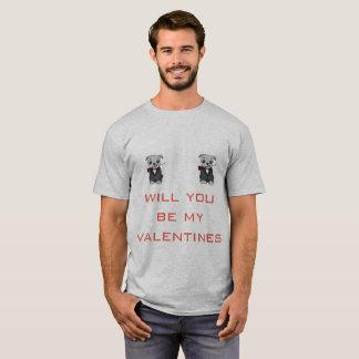 Camisa de las tarjetas del día de San Valentín de