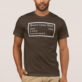 Camisa de lino de Brown