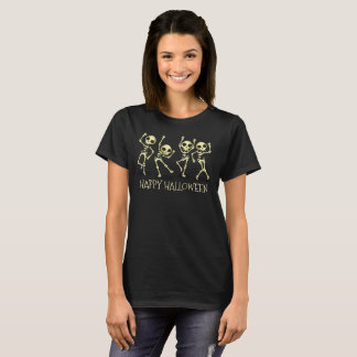 Camisa de los esqueletos el   del baile del feliz