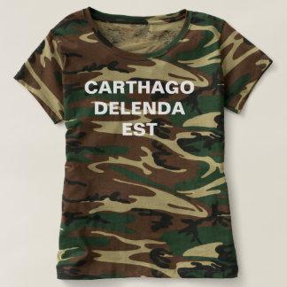 Camisa de los militares del est del delenda de