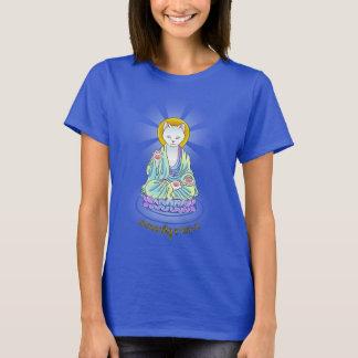 Camisa de Lotus del gato de Buda del maullido de