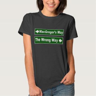 Camisa de MacGregor del clan de la placa de calle