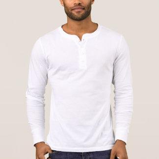 Camisa de manga larga de Henley de la lona de los