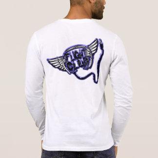 Camisa de manga larga de Henley del club del vuelo
