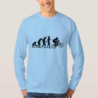 Camisa de manga larga de la evolución de la bici