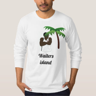 Camisa de manga larga de la isla de los camareros