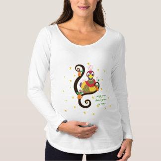 Camisa de manga larga de la maternidad del