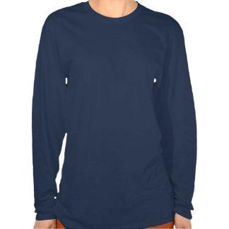Camisa de manga larga de los azules marinos del