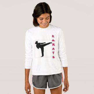 Camisa de manga larga del chica del karate