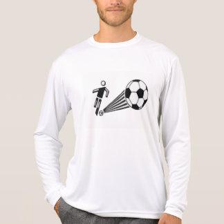 Camisa de manga larga para hombre del fútbol