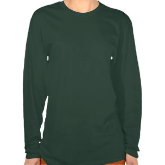 Camisa de manga larga para mujer del oso de la gal