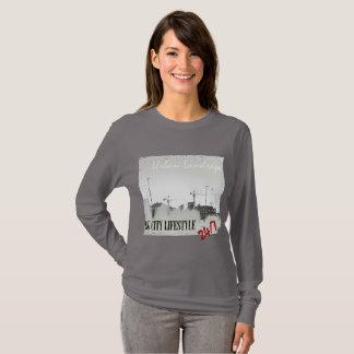 Camisa de manga larga urbana de la forma de vida