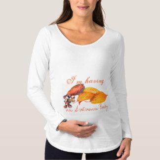 Camisa de maternidad debida del bebé del algodón