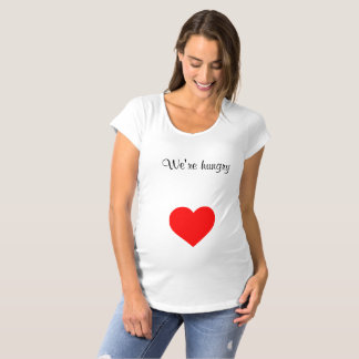 camisa de maternidad del corazón