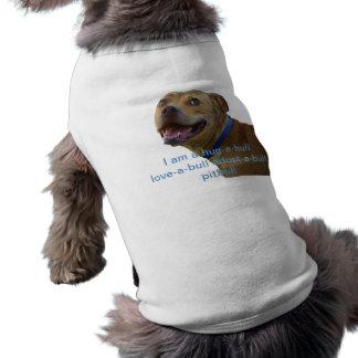 Camisa de Pitbull Camiseta Sin Mangas Para Perro