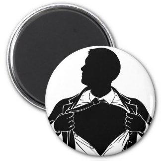 Camisa de rasgado del hombre de negocios del super imanes
