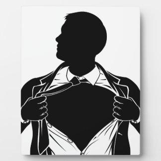 Camisa de rasgado del hombre de negocios del super placa expositora