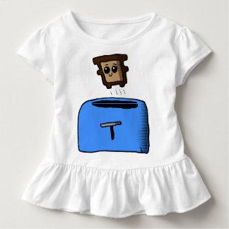 Camisa de salto del bebé de la tostada