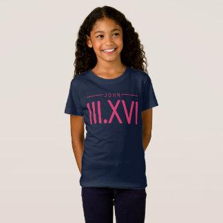 Camisa del 3:16 de Juan del chica